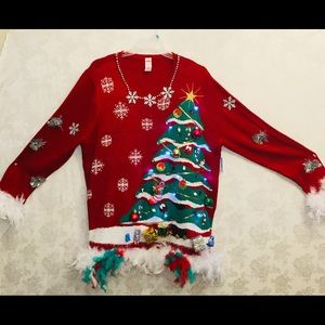 Sweaters - Ugly Christmas sweaters light up 4x